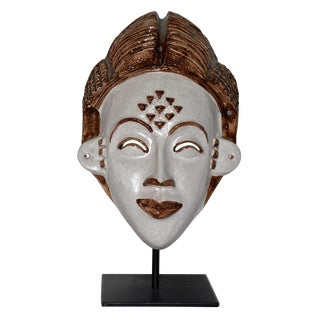 Neiman Marcus Italian Clay African Tribal Mask For Sale