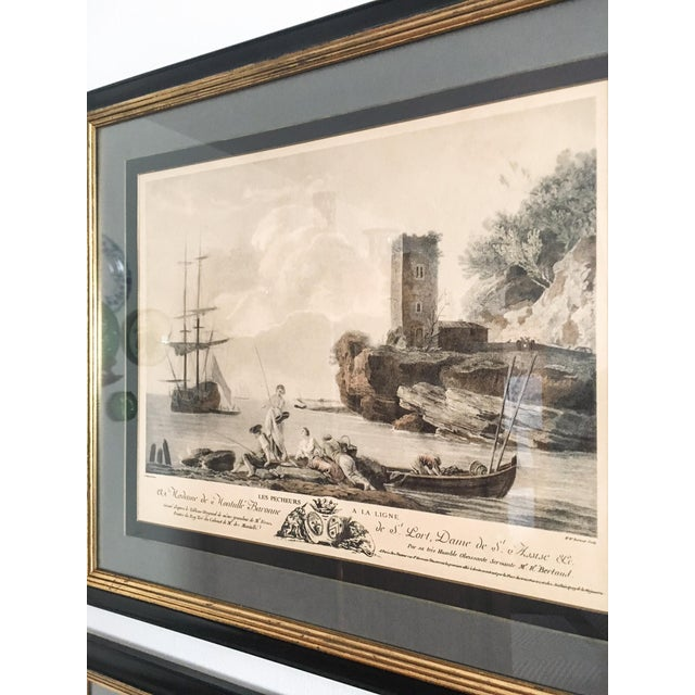 Antique French Nautical Engravings - a Pair For Sale In Richmond - Image 6 of 12