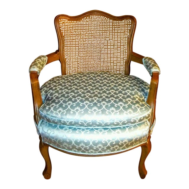 Vintage French Provincial Caned Back Chair - Image 1 of 5