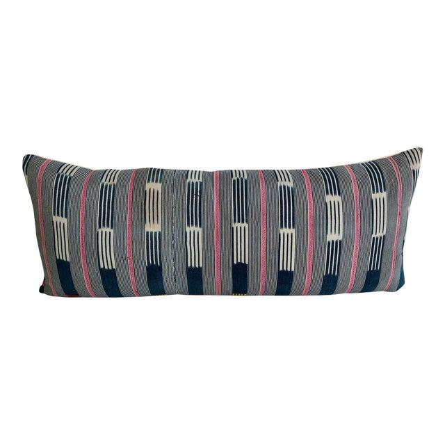 Vintage Baule Handwoven Textile Bolster For Sale