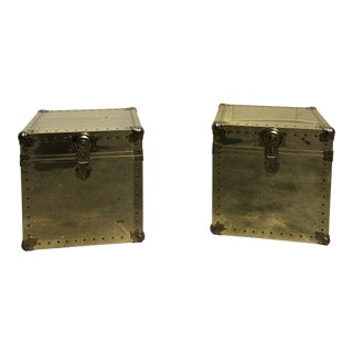 Vintage Brass Trunks/Side Tables