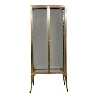 1920s Brass Vitrine Display Case For Sale