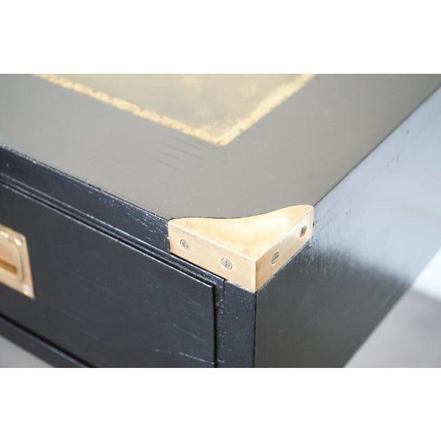 Black Mid-Century Italian Desk/Console For Sale - Image 8 of 9