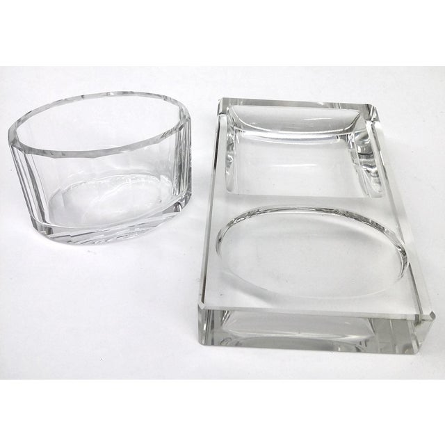 Crystal Art Deco Cigarette Ashtray - 2 Pieces - Image 6 of 11