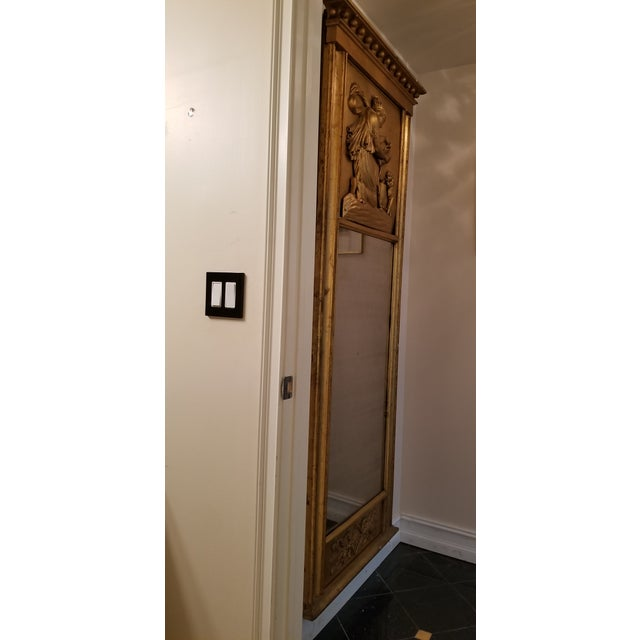 Tall Antique French Golt Gold Trumeau Mirror For Sale - Image 11 of 13
