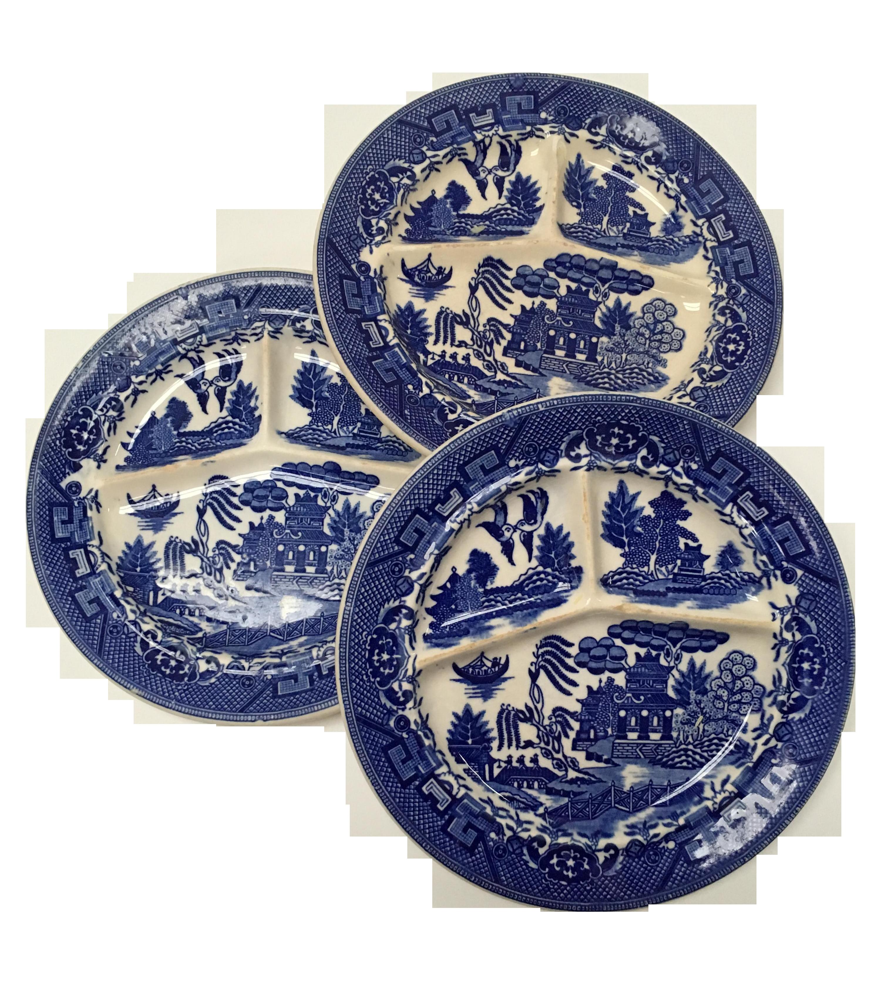 Antique Moriyama Blue Willow Plates - Set of 3  sc 1 st  Chairish & Antique Moriyama Blue Willow Plates - Set of 3 | Chairish
