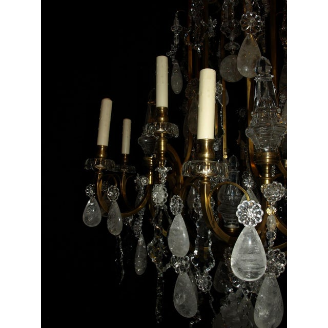 Antique Chandelier. Rock Crystal Chandelier by Baccarat For Sale In Atlanta - Image 6 of 8