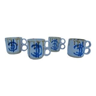 1975 Blackwell Hand Thrown Coffee Mugs - Set of 4