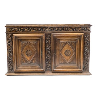 French Renaissance Carved Oak Sideboard 18th Century For Sale