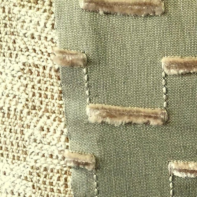 Contemporary Beige Nubby Pillow For Sale - Image 3 of 3