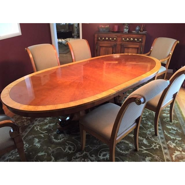 Henredon Oval Dining Table - Image 6 of 6