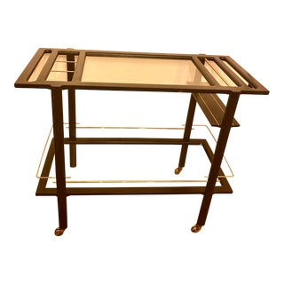 Mid-Century Contemporary Bar Cart For Sale