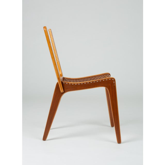 Brown Pair of Canadian Modernist Cord Chairs by Jacques Guillon For Sale - Image 8 of 13