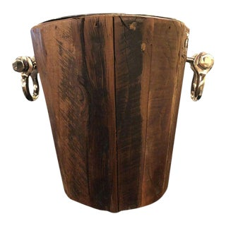 Rustic Style Wooden Ice Bucket For Sale