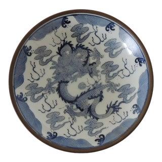 Petite Imari Pewter Encased Decorative Plate For Sale
