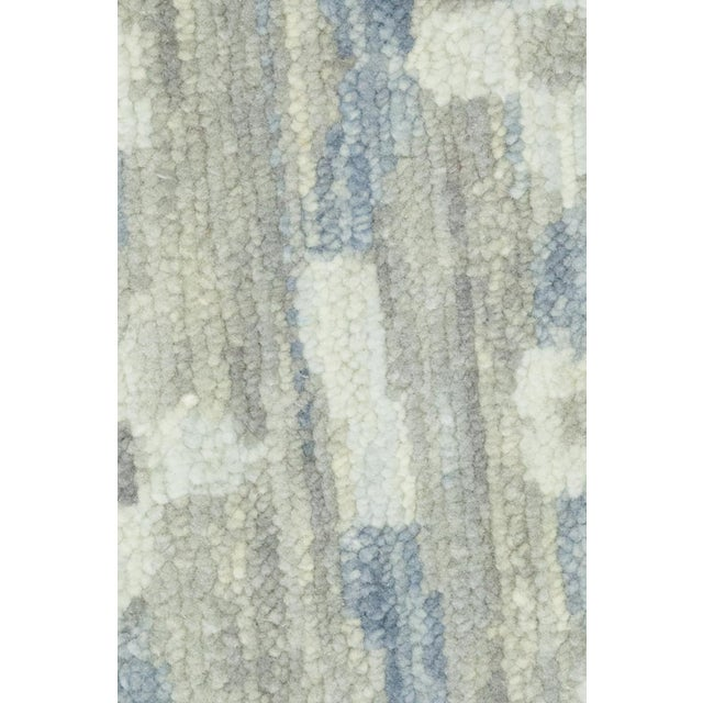 Modern Gray Striped Area Rug For Sale - Image 3 of 4