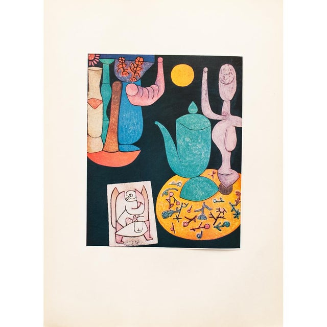 Blue 1955 Paul Klee, Still Life First Edition Lithograph For Sale - Image 8 of 8