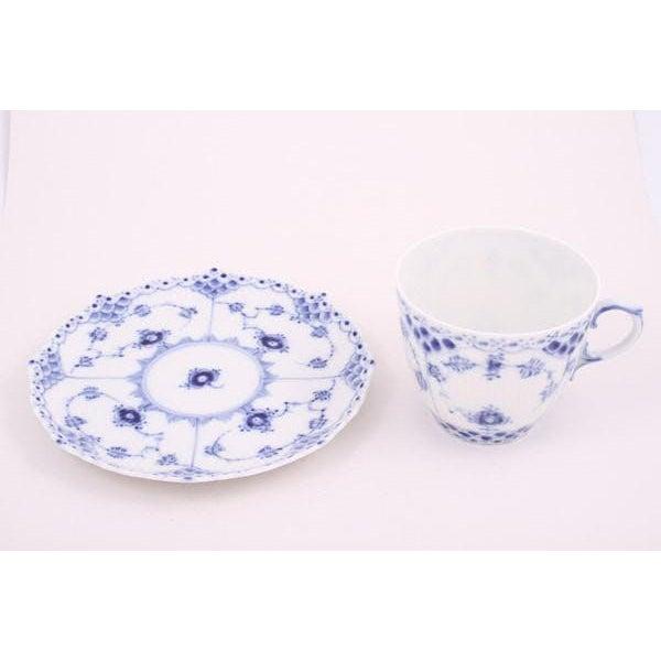Ceramic Royal Copenhagen Mini Cup & Saucer - A Pair For Sale - Image 7 of 8