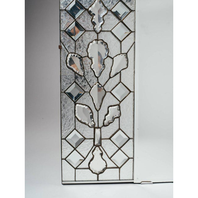 Art Deco Opulent Hollywood Regency Mirror With Large Cut Crystals, 1940's For Sale - Image 3 of 12