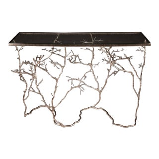 Silver Twig and Branch Console Table For Sale