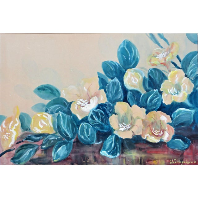 Vintage Hawaiian Flower Painting by J Llaine Colquhoun For Sale - Image 4 of 8