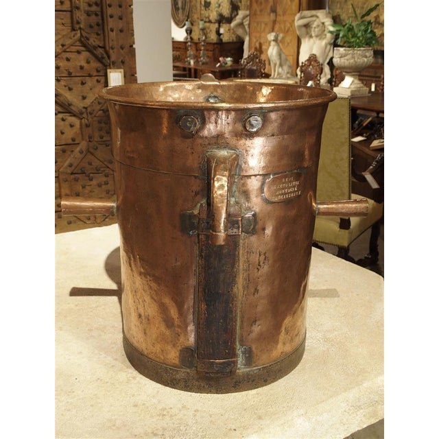 Antique Copper 50 Liter Wine Vessel from Carcassonne France, Circa 1850 For Sale - Image 5 of 9