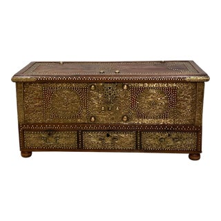 Zanzibar Brass Nailhead Trunk, 19th Century For Sale