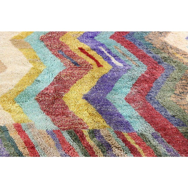 Textile Contemporary Missoni Style Moroccan Berber Rug - 10′6″ × 13′4″ For Sale - Image 7 of 9
