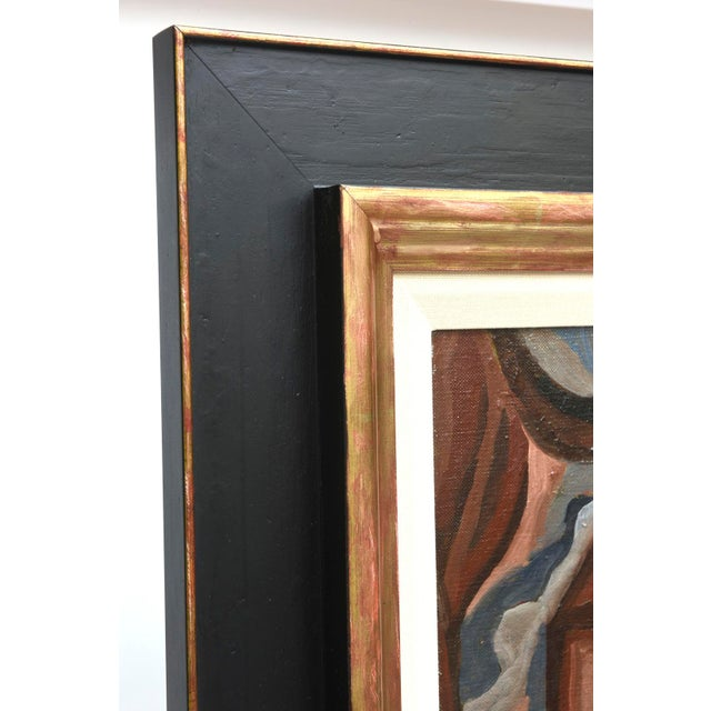 This amazing and stunning art deco oil painting by Suzanne Bertillon has both influences of cubism and elements of art...