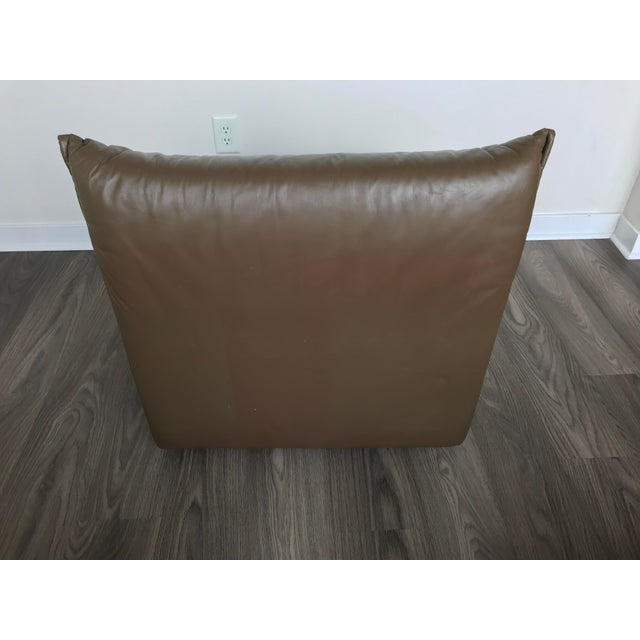 Guido Faleschini Original Italian Leather Mid-Century Modern Modular Sectional For Sale In Los Angeles - Image 6 of 12