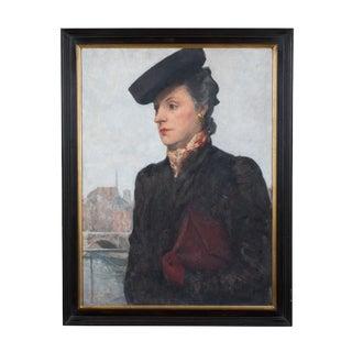 *Portrait of a Parisian Woman in a Black Hat by C.P. Bernardo