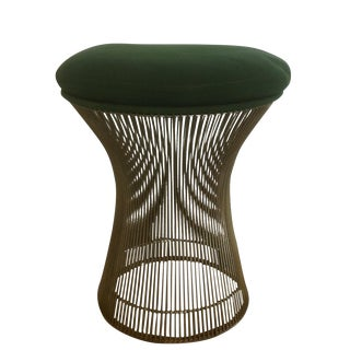 1974 Knoll Platner Green Upholstered Stool
