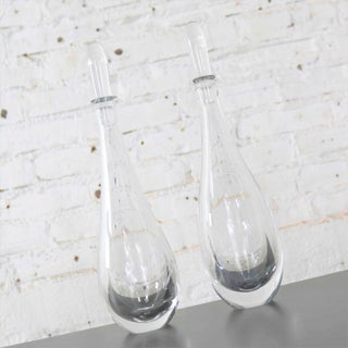 Pair of Clear Glass Orrefors Decanters by Vicke Lindstrand Mid Century Modern Preview