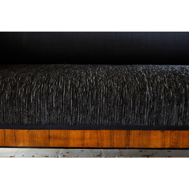Wood Early 19th Century Biedermeier Sofa of Cherry in Black Horsehair Fabric For Sale - Image 7 of 12