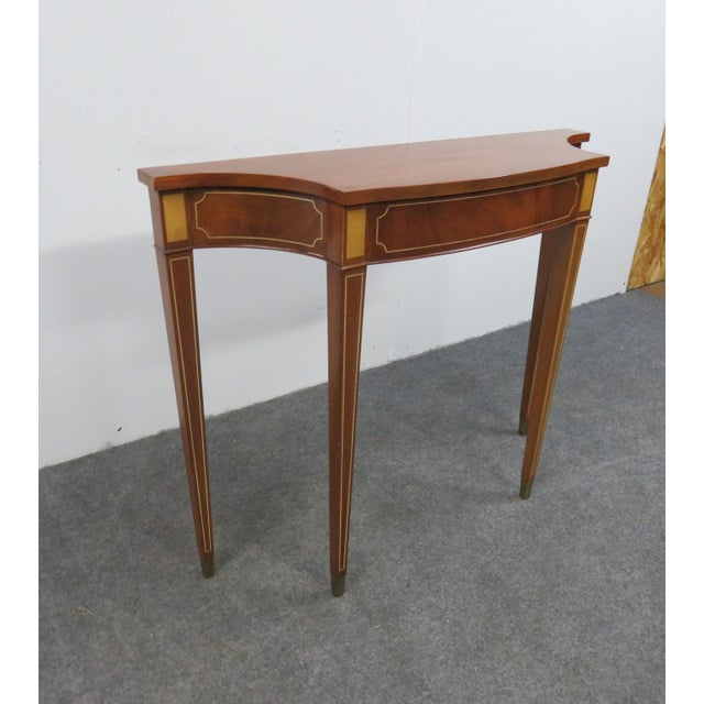 Americana Hepplewhite Style Console Table For Sale - Image 3 of 7