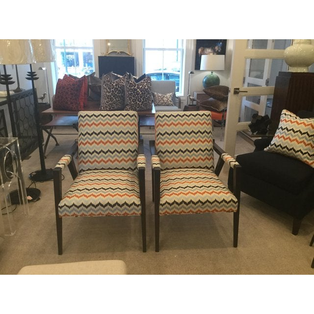 Kravet Kravet Mid-Century Modern Tempest Chairs - a Pair For Sale - Image 4 of 8