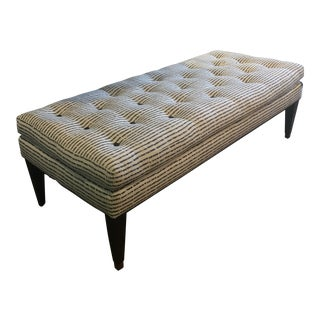 Lee Industries Upholstered Tufted Cushion Top Bench