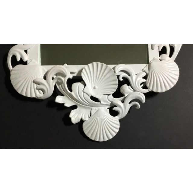 Early 21st Century White Sea Shell Mirror For Sale - Image 5 of 10