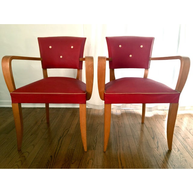1940s Vintage French Art Deco Bridge Accent / Armchairs- a Pair For Sale - Image 9 of 9