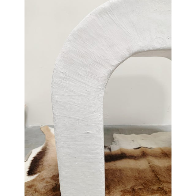 Marit Mid-Century Raw Plaster Waterfall Console For Sale In Palm Springs - Image 6 of 6