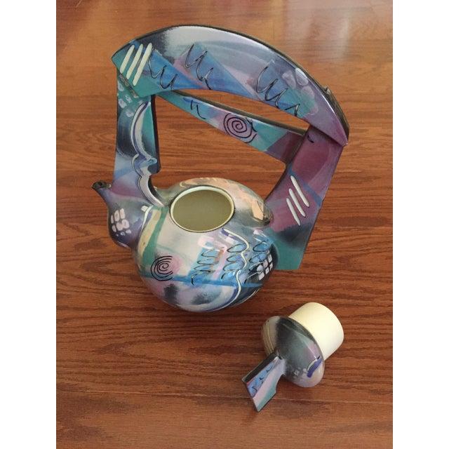 Contemporary Tom Hubert Handmade Porcelain Teapot - Master Ceramist Professor Fine Arts For Sale - Image 3 of 11