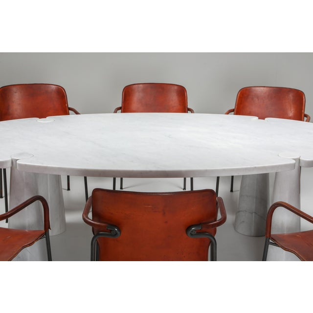 Carrara Marble Dining Table by Angelo Mangiarotti - 1970s For Sale - Image 10 of 13