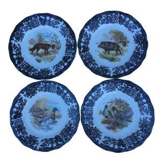 English Spode Game Plates - Set of 4
