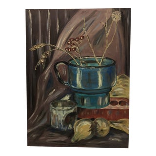 """Mid Century Still Life """"Blue Cup"""" For Sale"""
