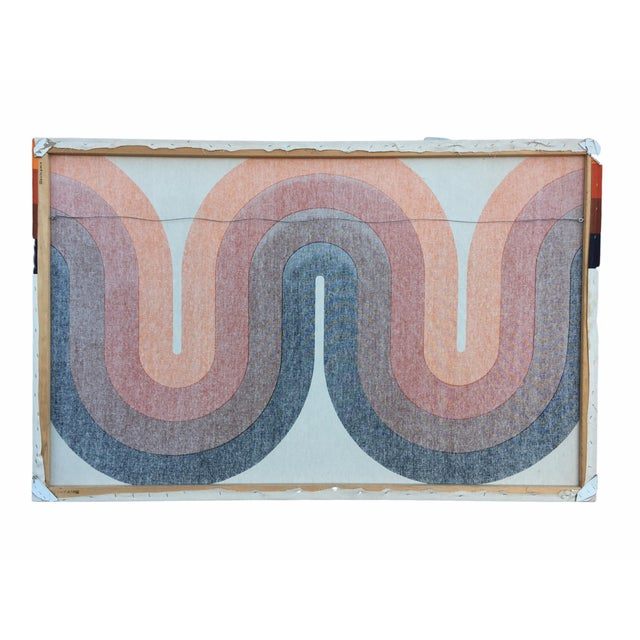 Canvas Mid-Century Stretched Canvas Screen-Print by Verner Panton For Sale - Image 7 of 8