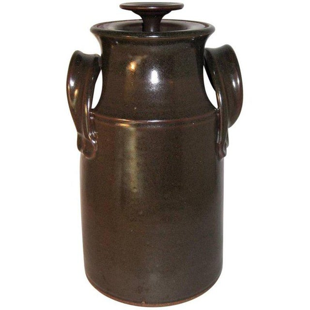 Ceramic Fred Hamann Studio Art Stoneware Pottery Lidded Canister For Sale - Image 7 of 7