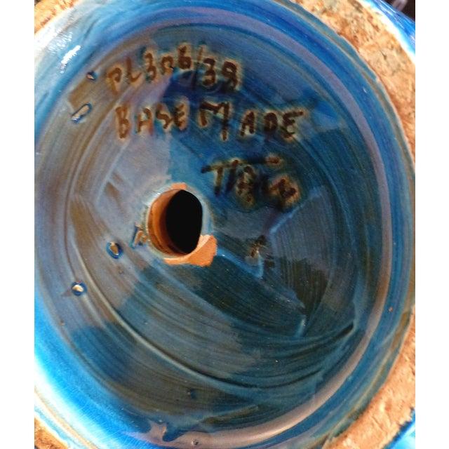 """White 1960s Bitossi Ceramiche Aldo Londi """"Rimini Blu"""" Ceramic Table Lamps, Italy For Sale - Image 8 of 11"""