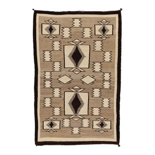 "1920's Antique Navajo Rug- 3'1"" X 4'9"" For Sale"