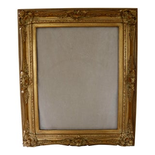 Late 20th Century Baroque Style Carved & Gold Gilt Frame For Sale