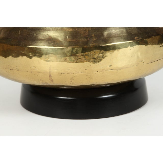 Pair of Polished Moroccan Brass Table Lamps For Sale In Los Angeles - Image 6 of 9